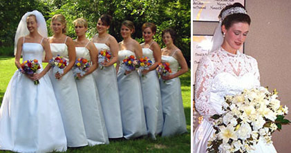 flowers by evelyn bridal party